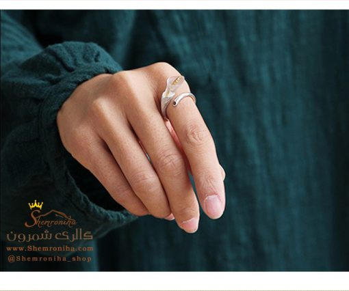 انگشتر نقره گل شیپوری
