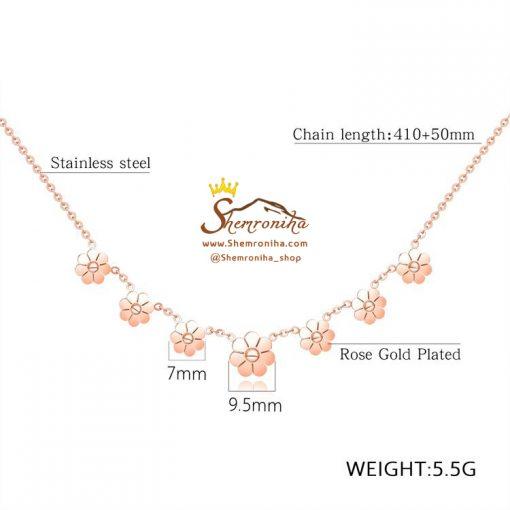 گردنبند گل استیل