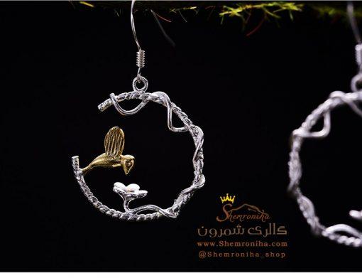 گوشواره نقره پرنده