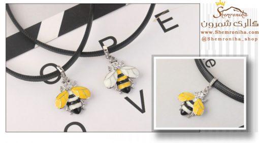 گردنبند چوکر زنبور با بال سفید