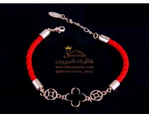 دستبند شبدر ون کلیف قرمز