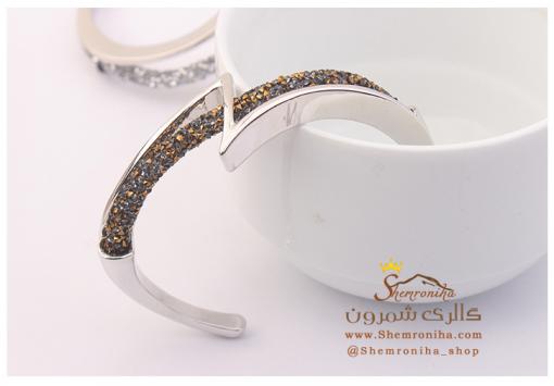 دستبند سواروسکی با کریستال تیره