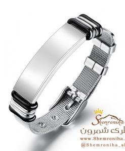 دستبند مردانه پلاک سیلور
