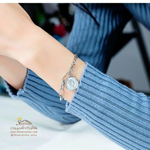 دستبند نیم رخ ملکه سیلور