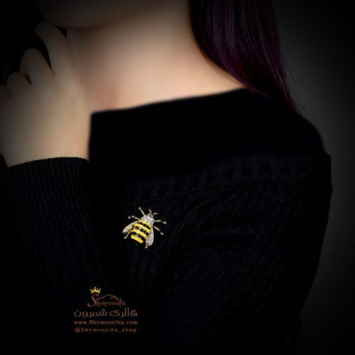 گل سینه – سنجاق سینه زنبور طرح GUCCI