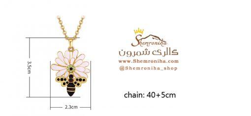 گردنبند گل و زنبور