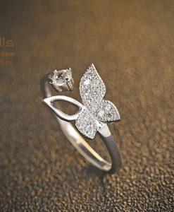 انگشتر نقره پروانه