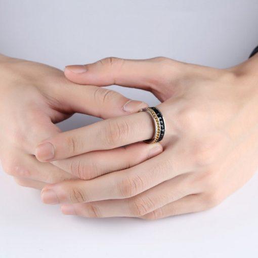 انگشتر مردانه نگین باگتی گلد