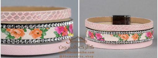 دستبند گل طوسی