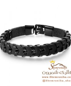 دستبند مردانه بافت مشکی