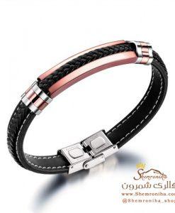 دستبند مردانه پلاک رزگلد