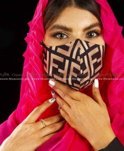 ماسک صورت فندی پارچه ای