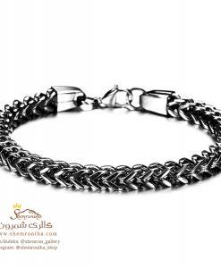 دستبند مردانه زنجیری مشکی