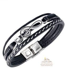 دستبند مردانه پلاک نت موسیقی
