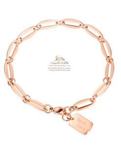 دستبند زنانه آویز اشکال رزگلد