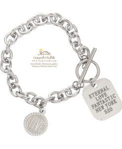 دستبند زنانه آویز اشکال سیلور BNG491S0