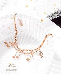دستبند زنانه پلاک نت موسیقی