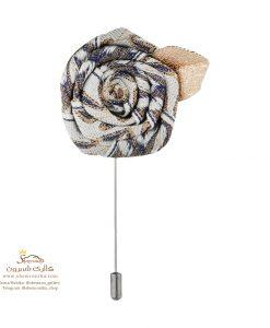 سنجاق سینه و گل کت مردانه گل و برگ متال BRC165S0