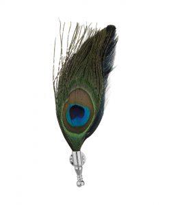 گل سینه و گل کت مردانه پر طاووس BRC141B0