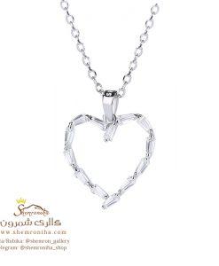 گردنبند نقره زنانه قلب NEC647S0