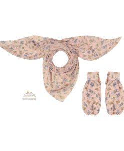 ست روسری و ساق دست صورتی SCA154P0
