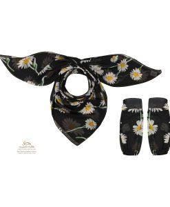 ست روسری و ساق دست گل مینا SCA158W0