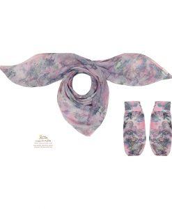 ست روسری و ساق دست گل و شکوفه بفنش SCA152G0