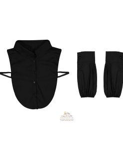 ست یقه حجاب و ساق دست مشکی SCA155B0