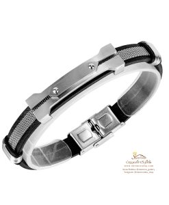 دستبند مردانه استیل سیلور BNG574S0